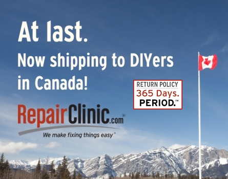 RepairClinic.com now ships to Canada!