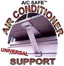 Window air conditioner mounting brackets